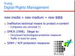 dialog digital rights management