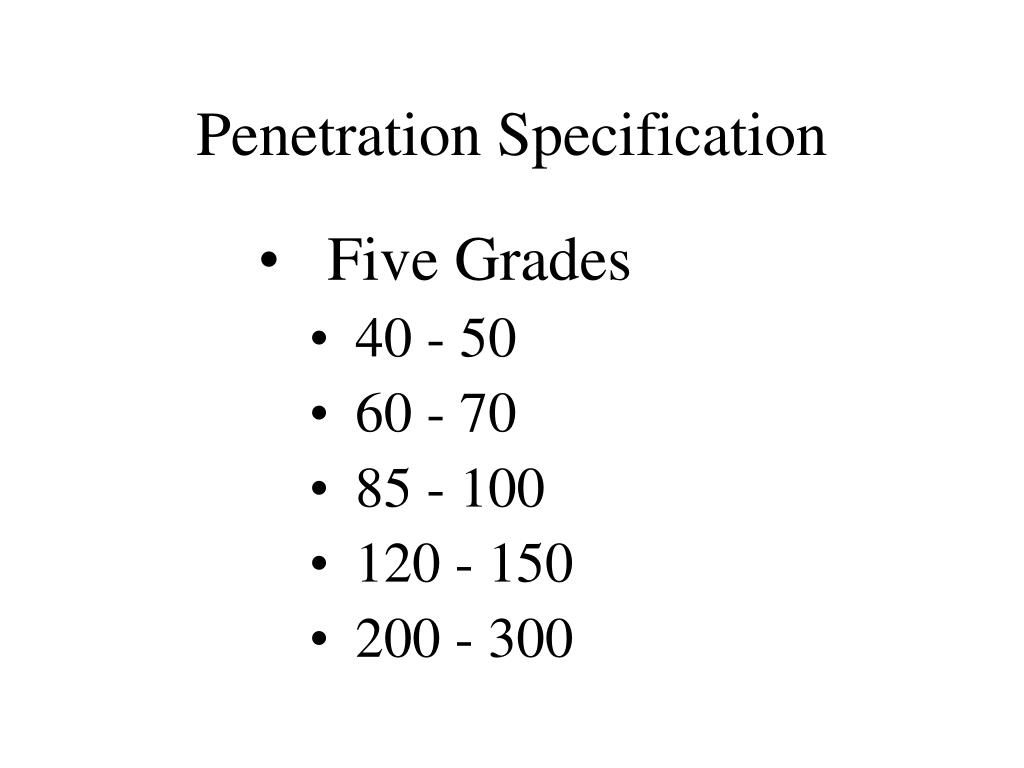 Penetration Specification
