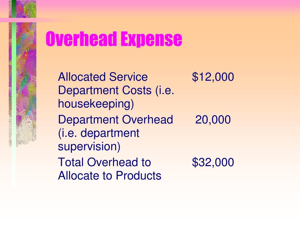 Overhead Expense