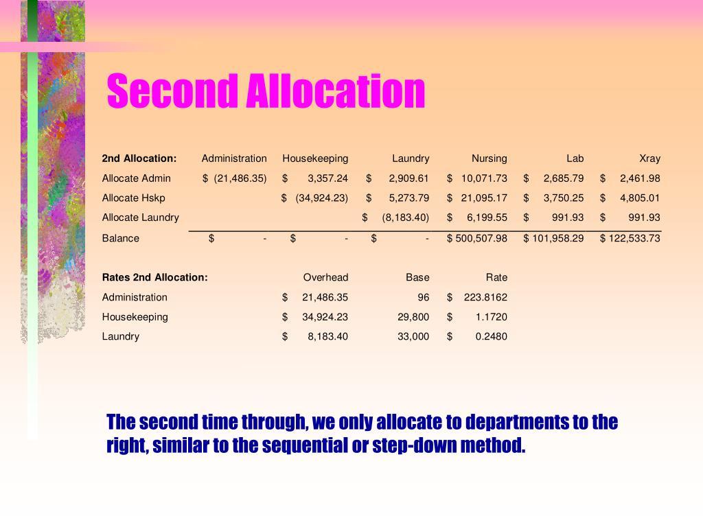 Second Allocation
