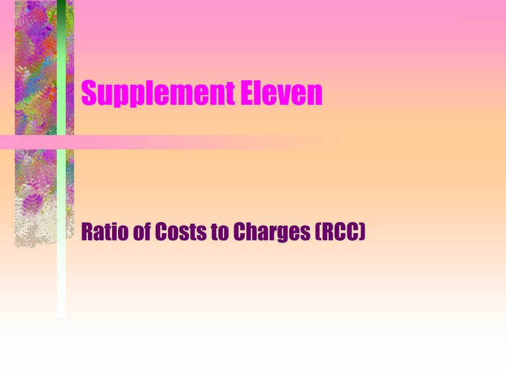 Supplement Eleven