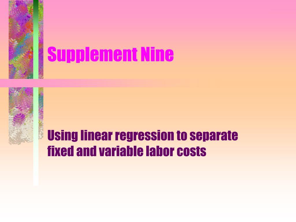 Supplement Nine