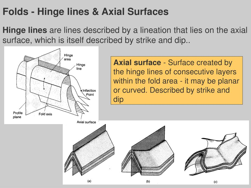 Folds - Hinge lines & Axial Surfaces
