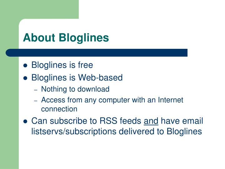 About bloglines