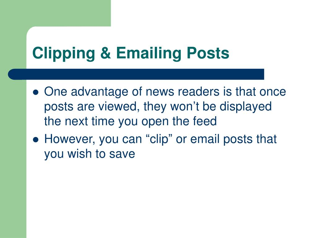 Clipping & Emailing Posts