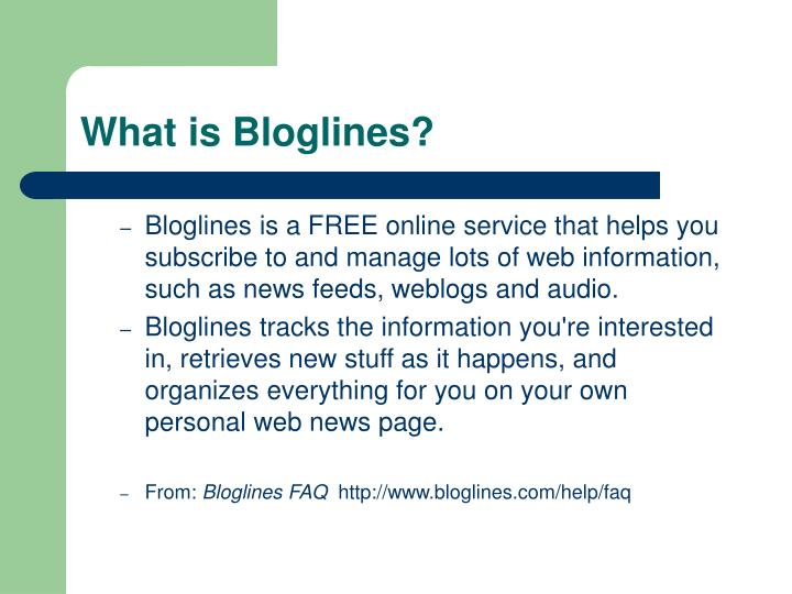 What is bloglines