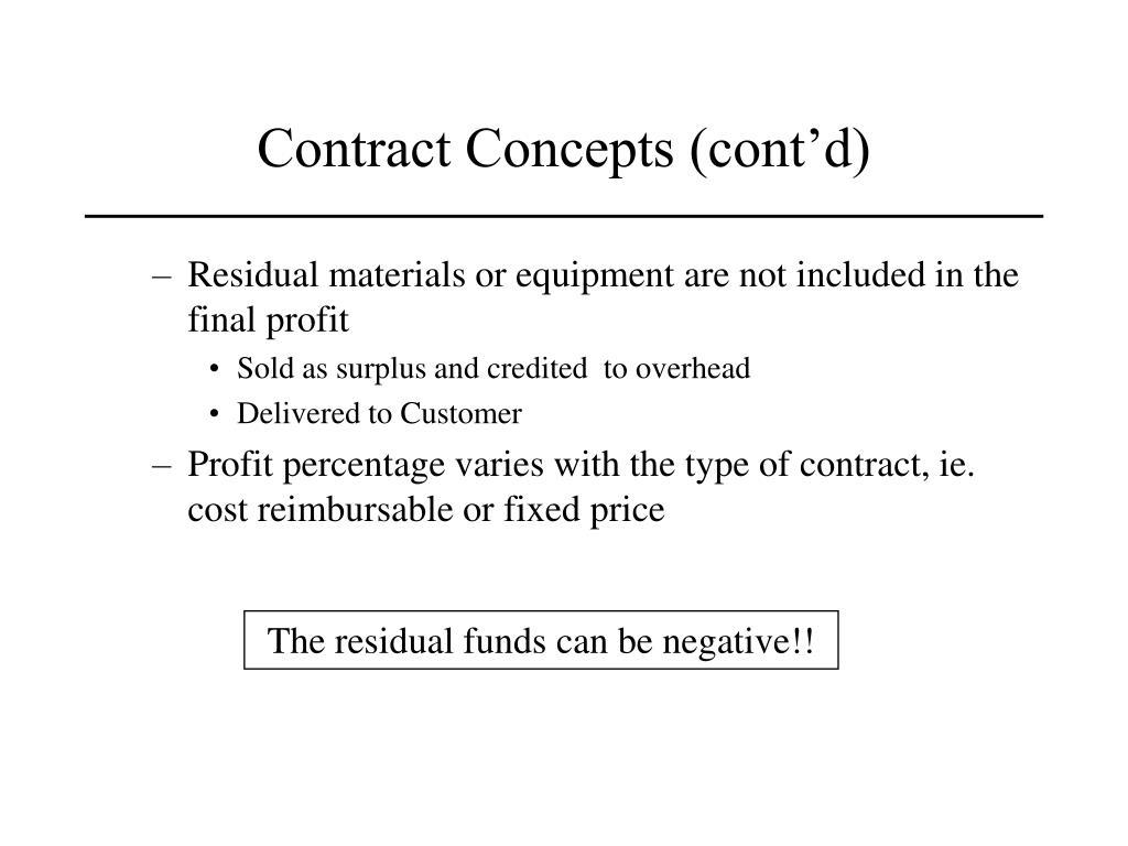 Contract Concepts (cont'd)
