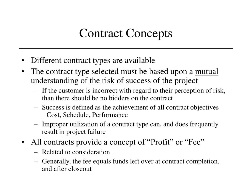 Contract Concepts