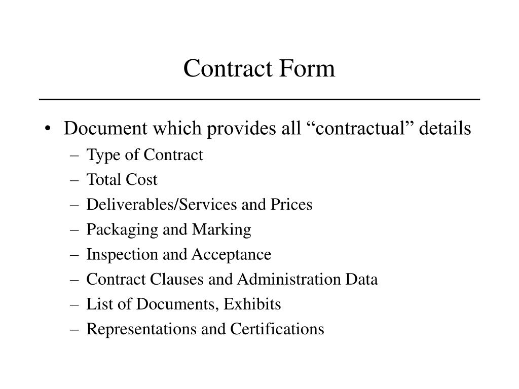 Contract Form