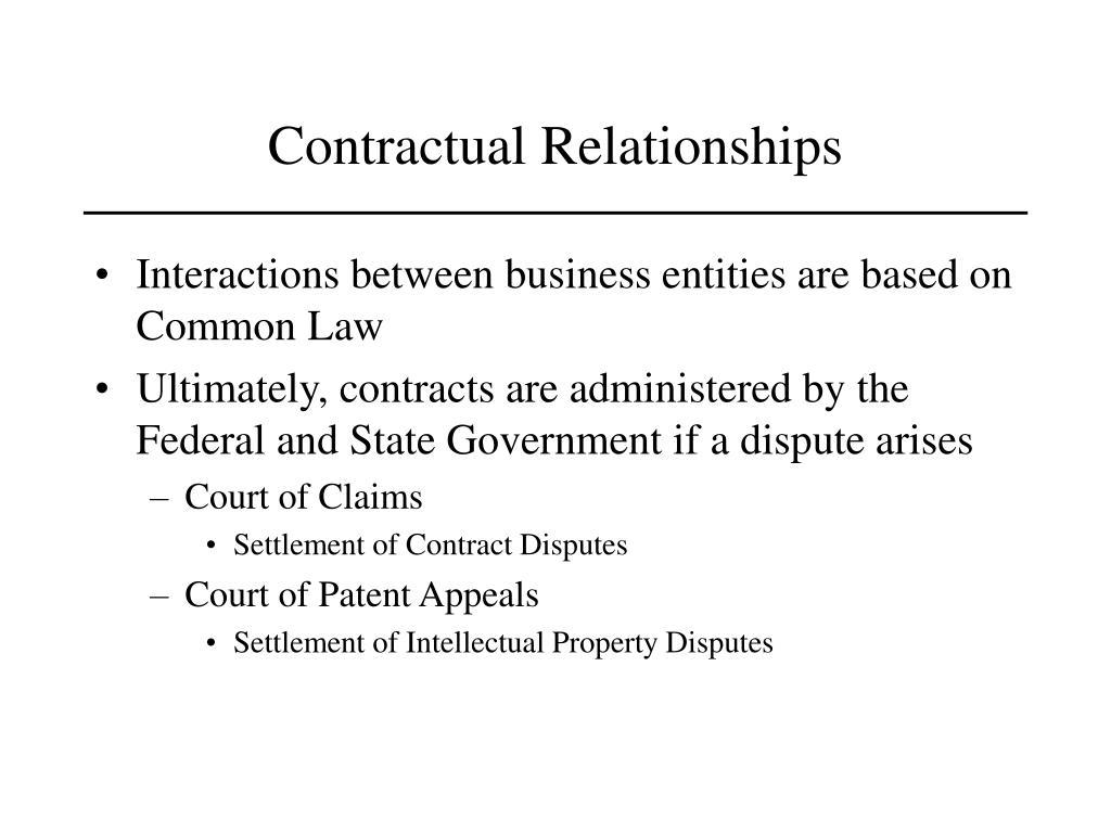 Contractual Relationships