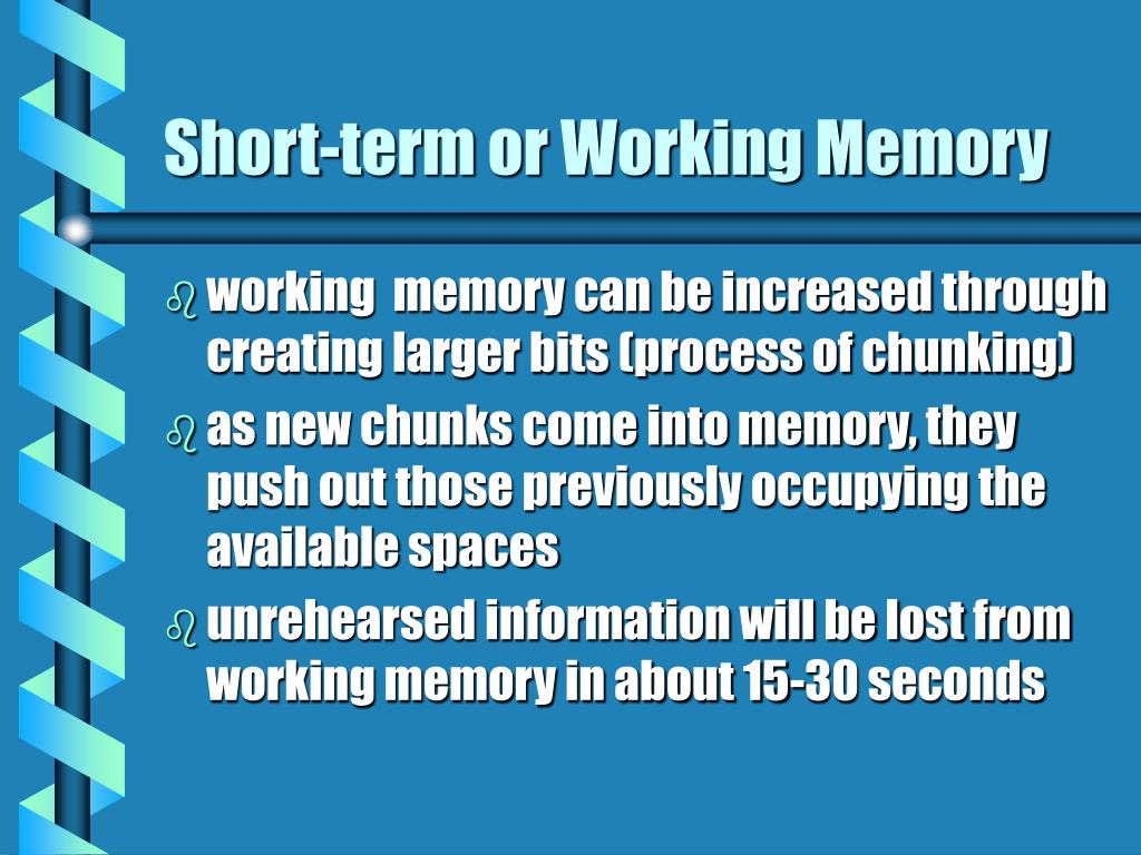 Short-term or Working Memory