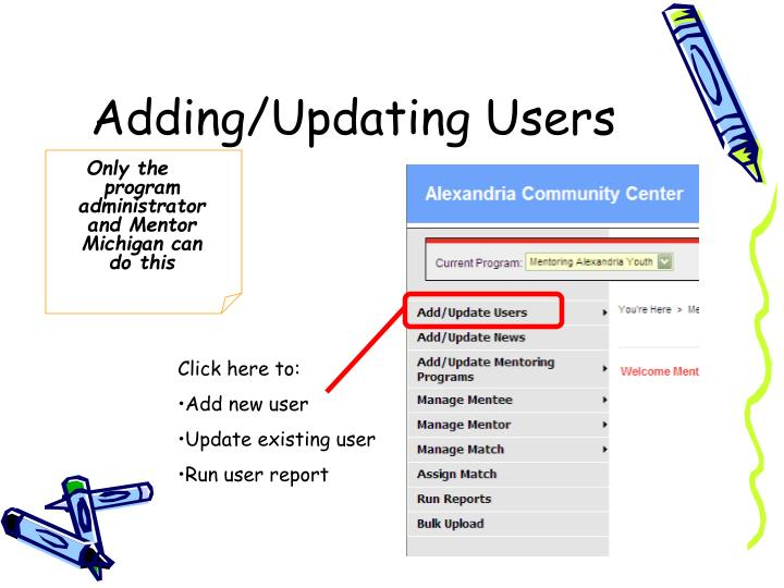 Adding/Updating Users