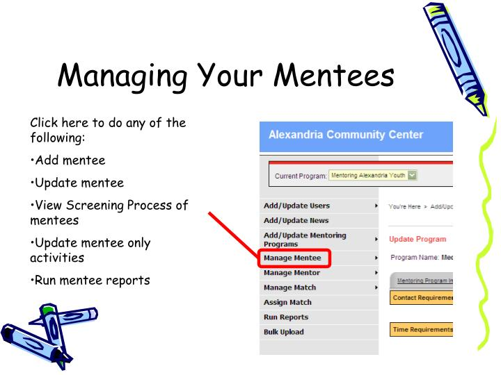 Managing Your Mentees