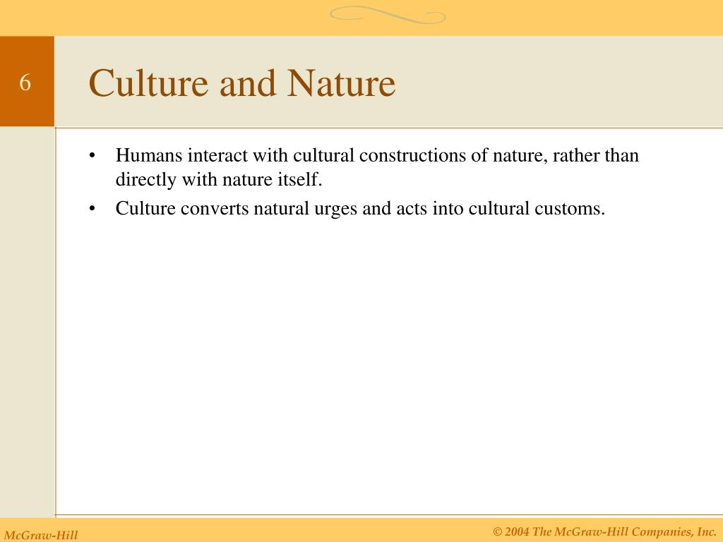 Culture and Nature