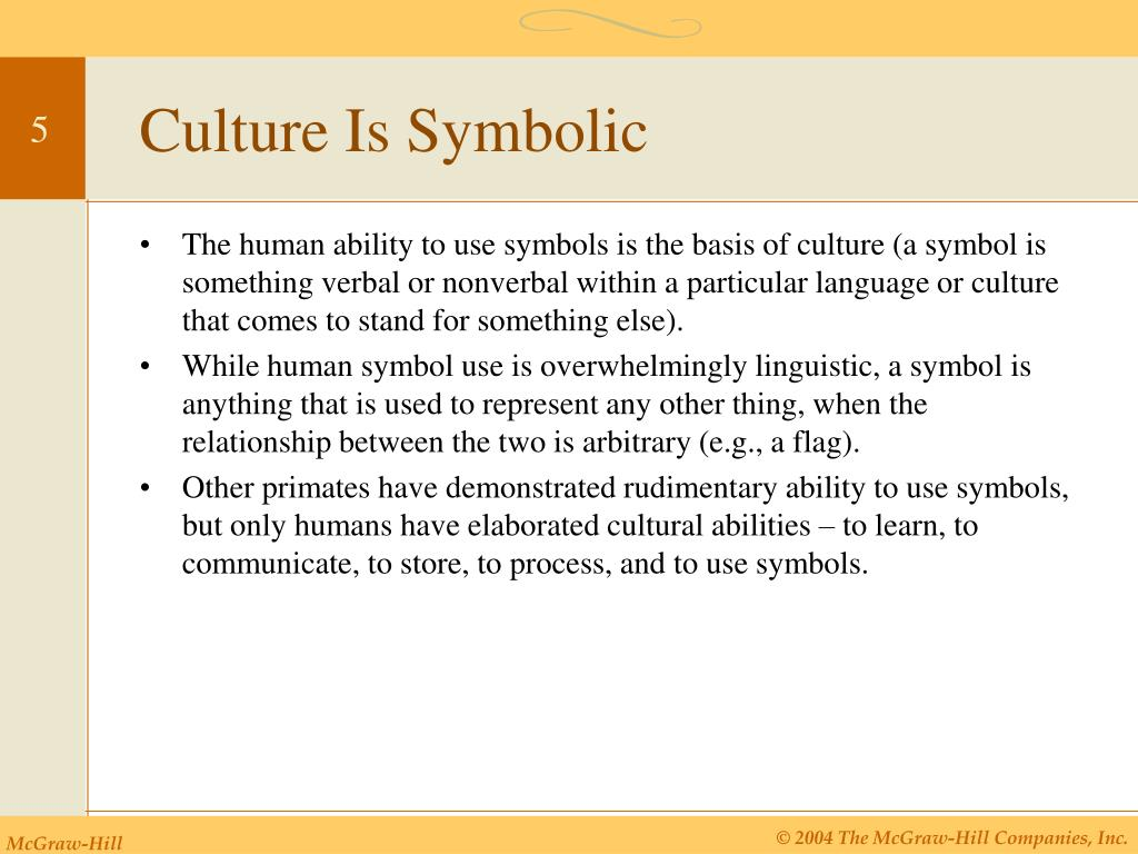 Culture Is Symbolic
