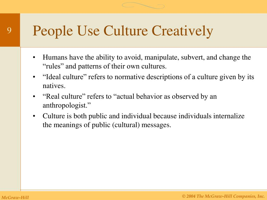 People Use Culture Creatively
