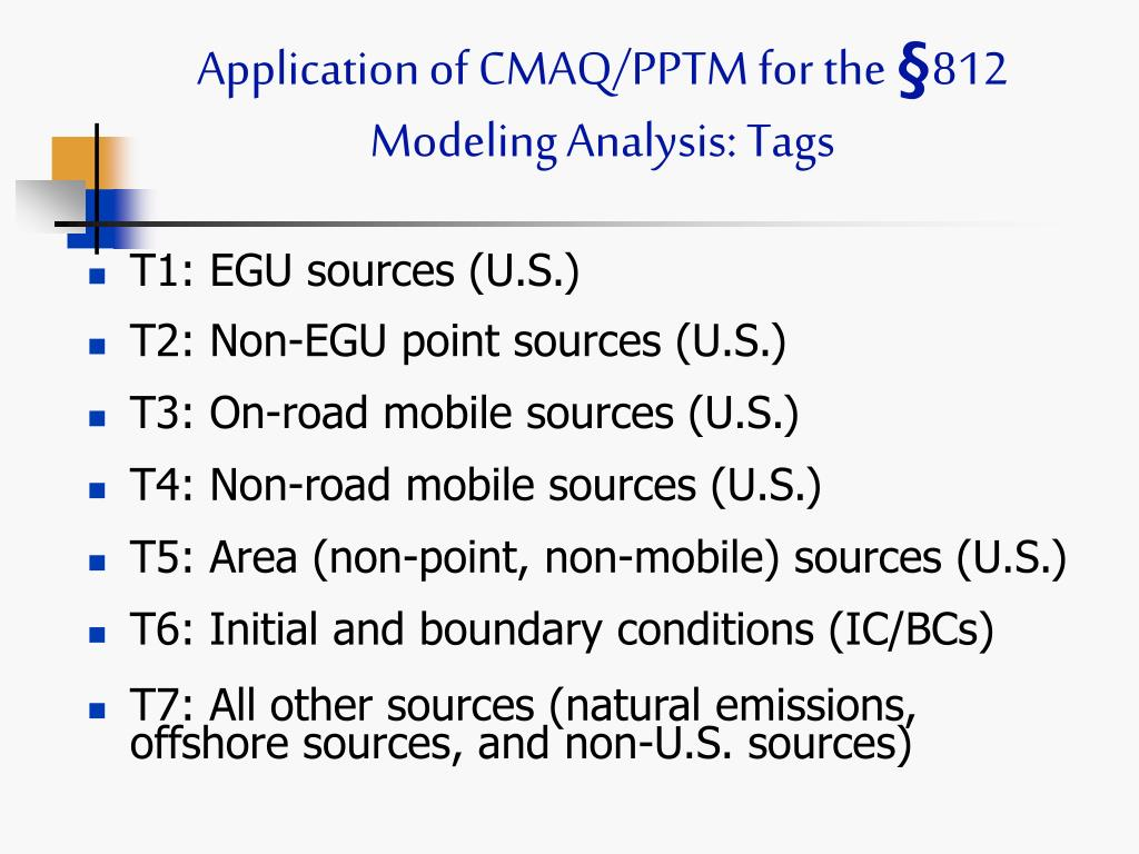 Application of CMAQ/PPTM for the