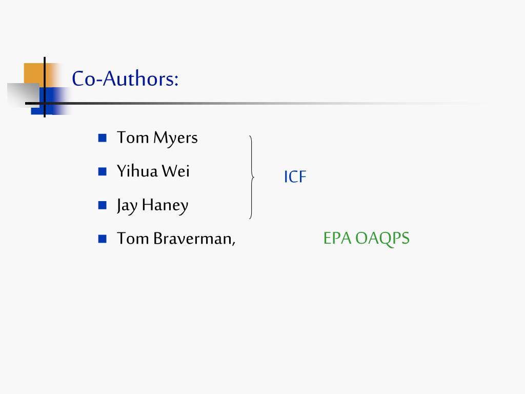 Co-Authors: