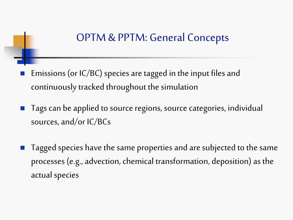 OPTM & PPTM: General Concepts