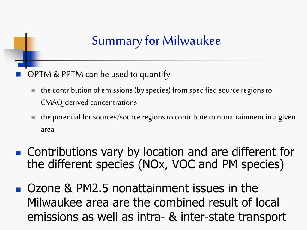 Summary for Milwaukee