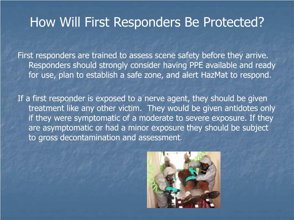 How Will First Responders Be Protected?