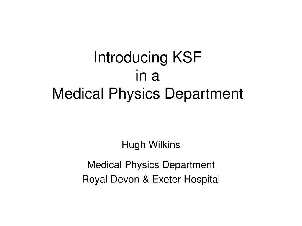 Introducing KSF