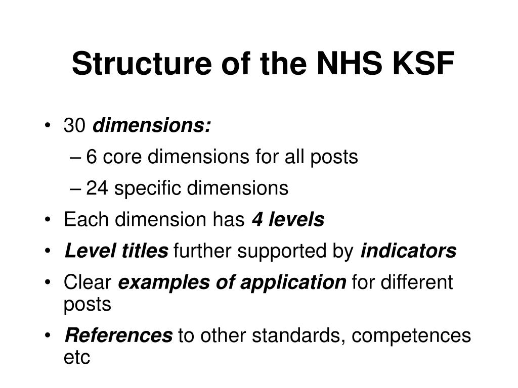 Structure of the NHS KSF