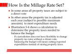 how is the millage rate set