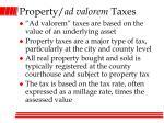 property ad valorem taxes