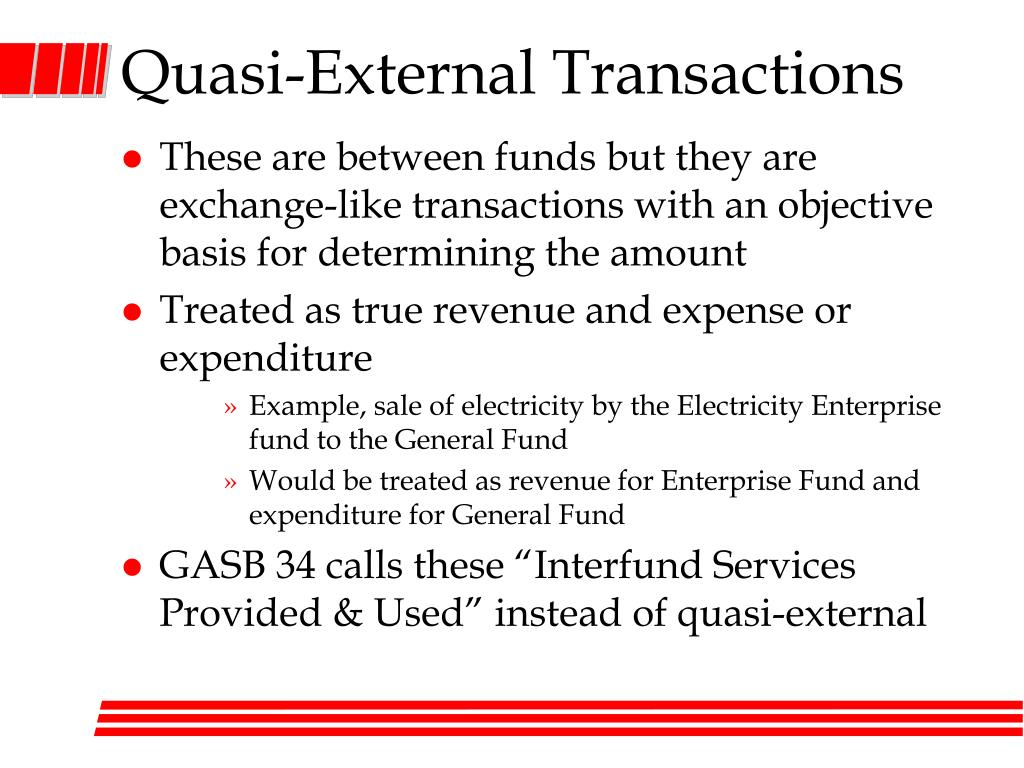 Quasi-External Transactions