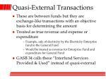 quasi external transactions