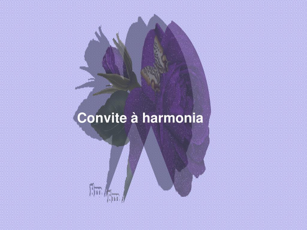 Convite à harmonia