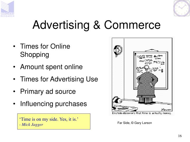 Advertising & Commerce