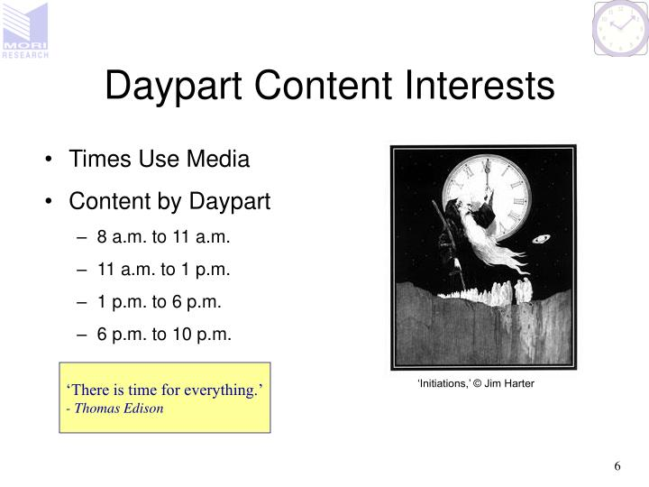 Daypart Content Interests