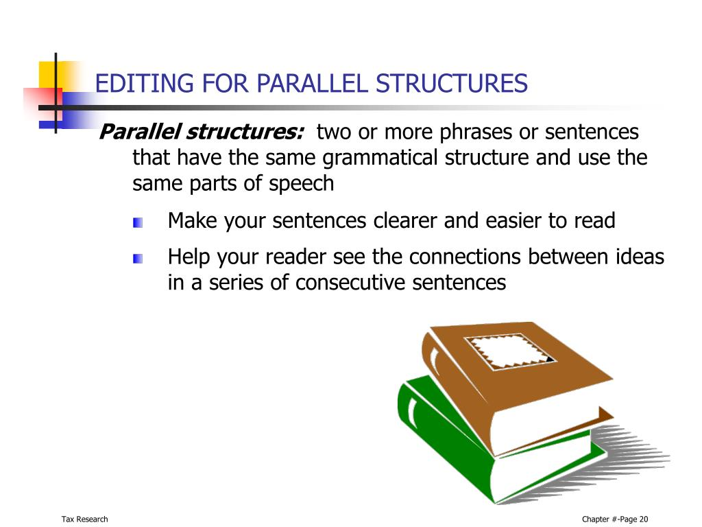 EDITING FOR PARALLEL STRUCTURES