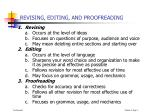 revising editing and proofreading