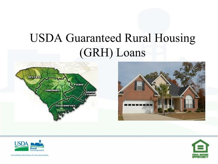 ppt usda guaranteed rural housing grh loans powerpoint
