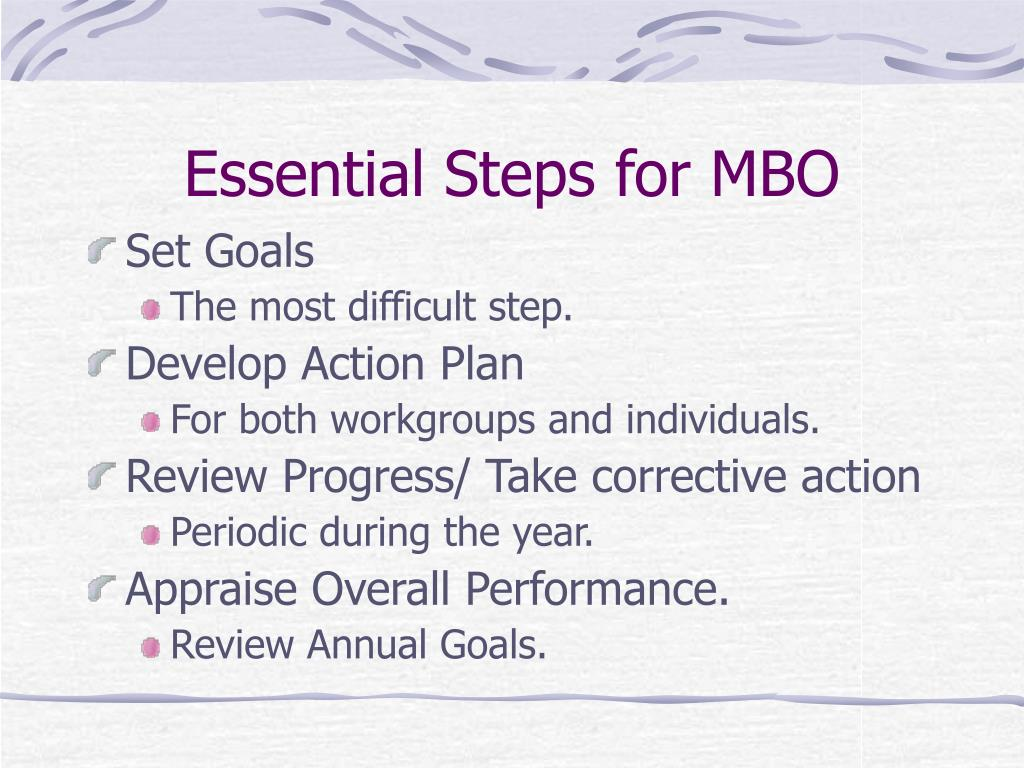 Essential Steps for MBO