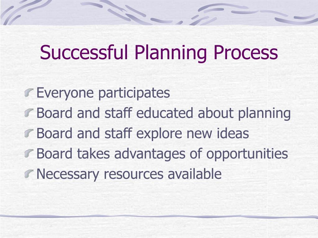 Successful Planning Process