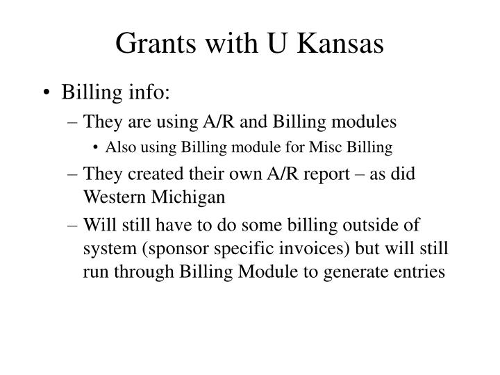 Grants with U Kansas