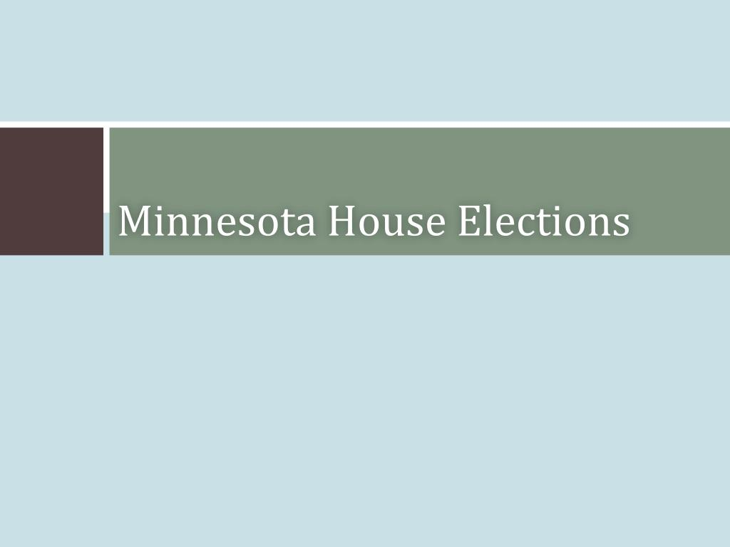 Minnesota House Elections