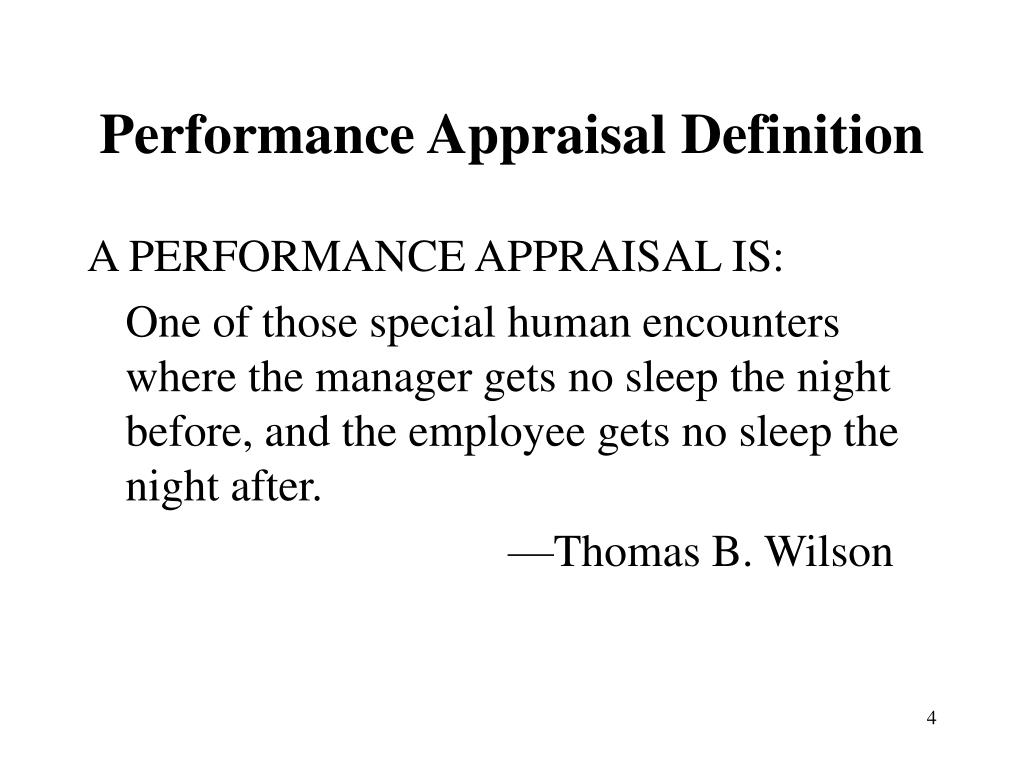 Performance Appraisal Definition