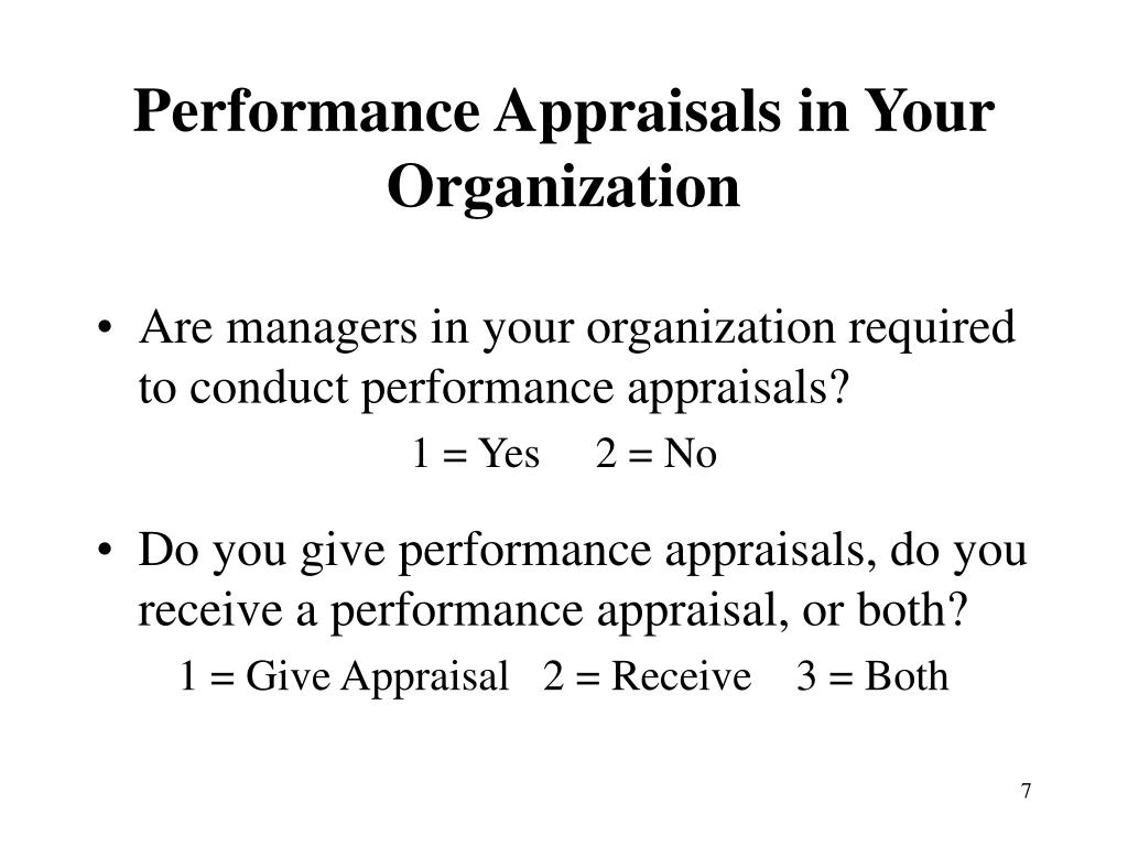 Performance Appraisals in Your Organization