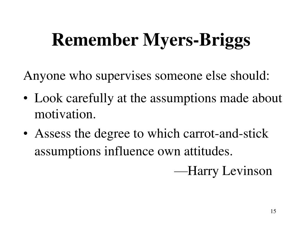 Remember Myers-Briggs