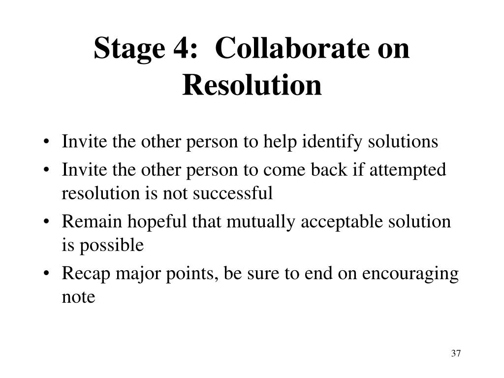 Stage 4:  Collaborate on