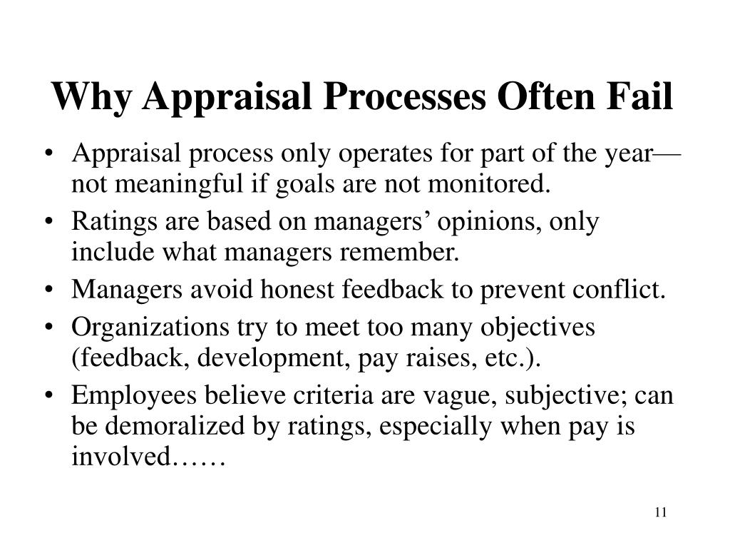 Why Appraisal Processes Often Fail