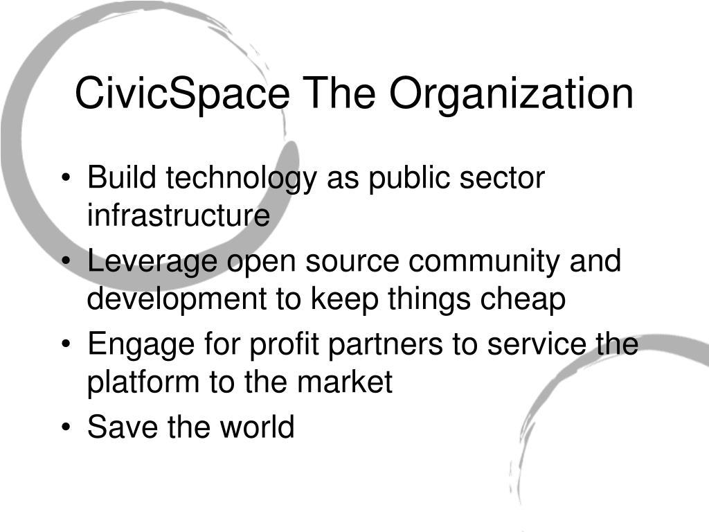 CivicSpace The Organization