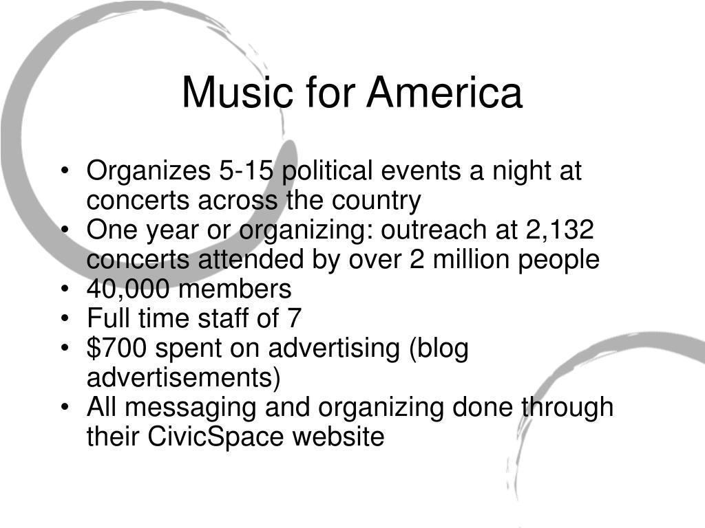 Music for America