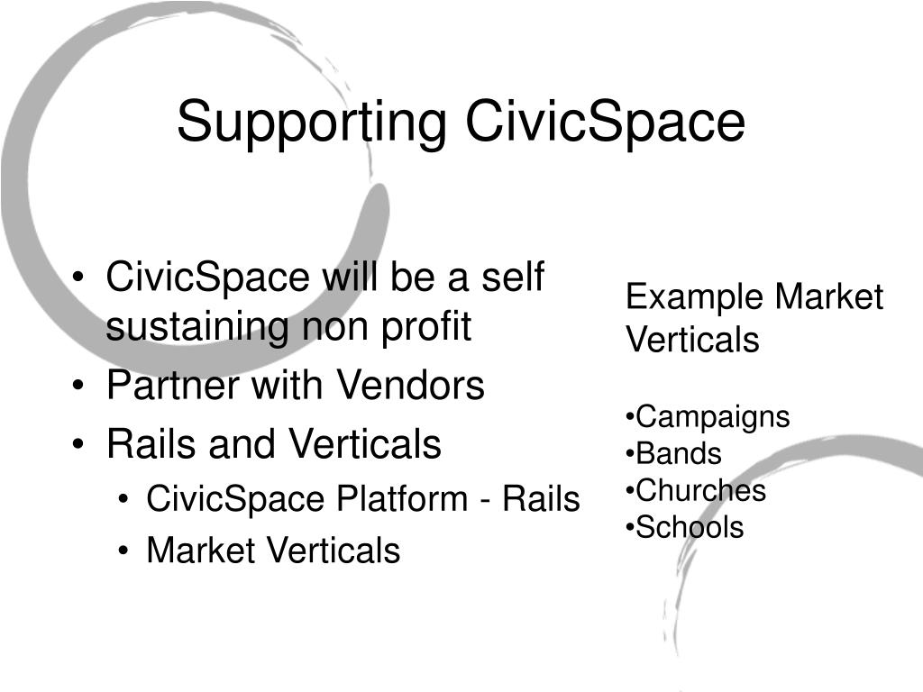 Supporting CivicSpace