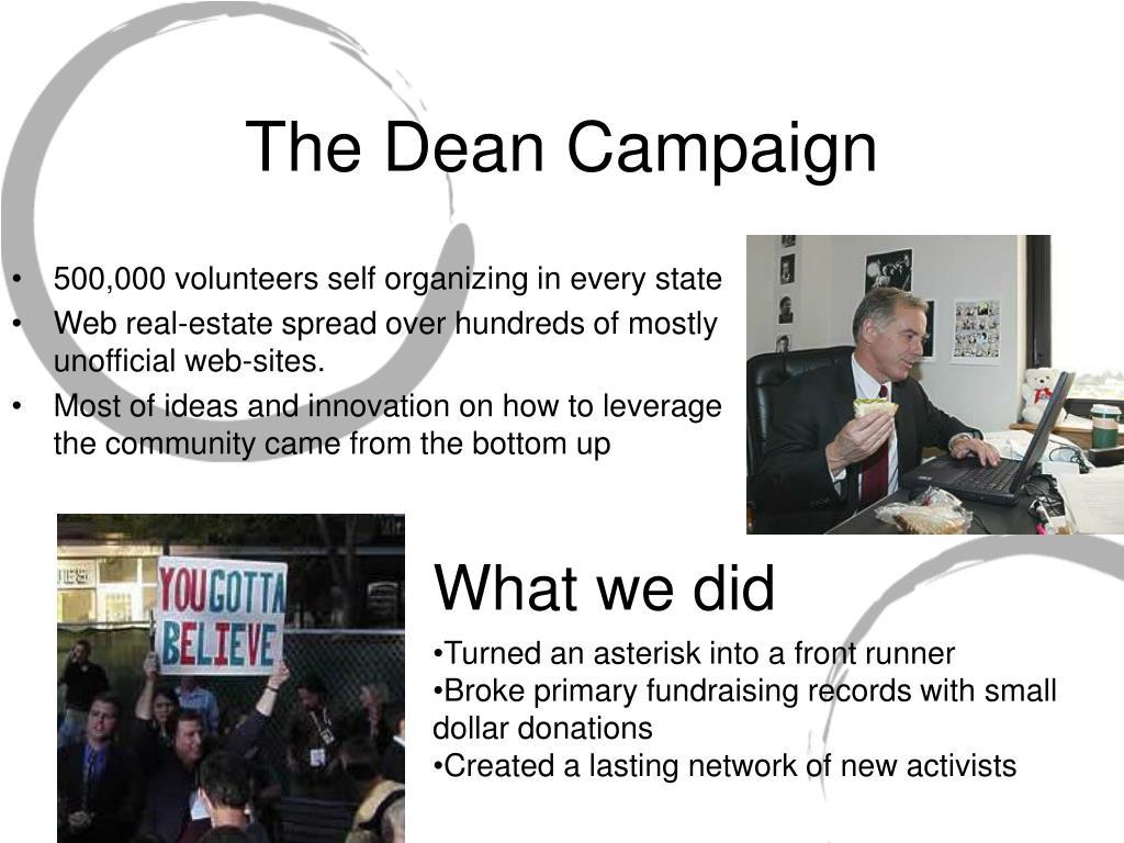 The Dean Campaign